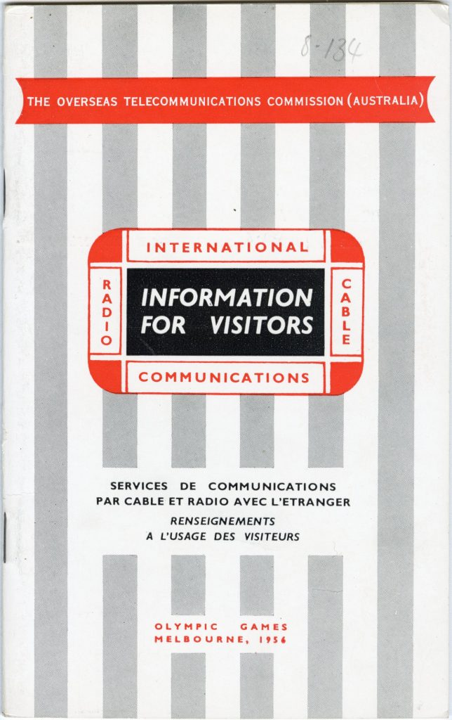 Booklet, 1956, Overseas Telecommunications Commission, City of Melbourne Art and Heritage Collection 1734381. Image courtesy of City of Melbourne Art and Heritage Collection.